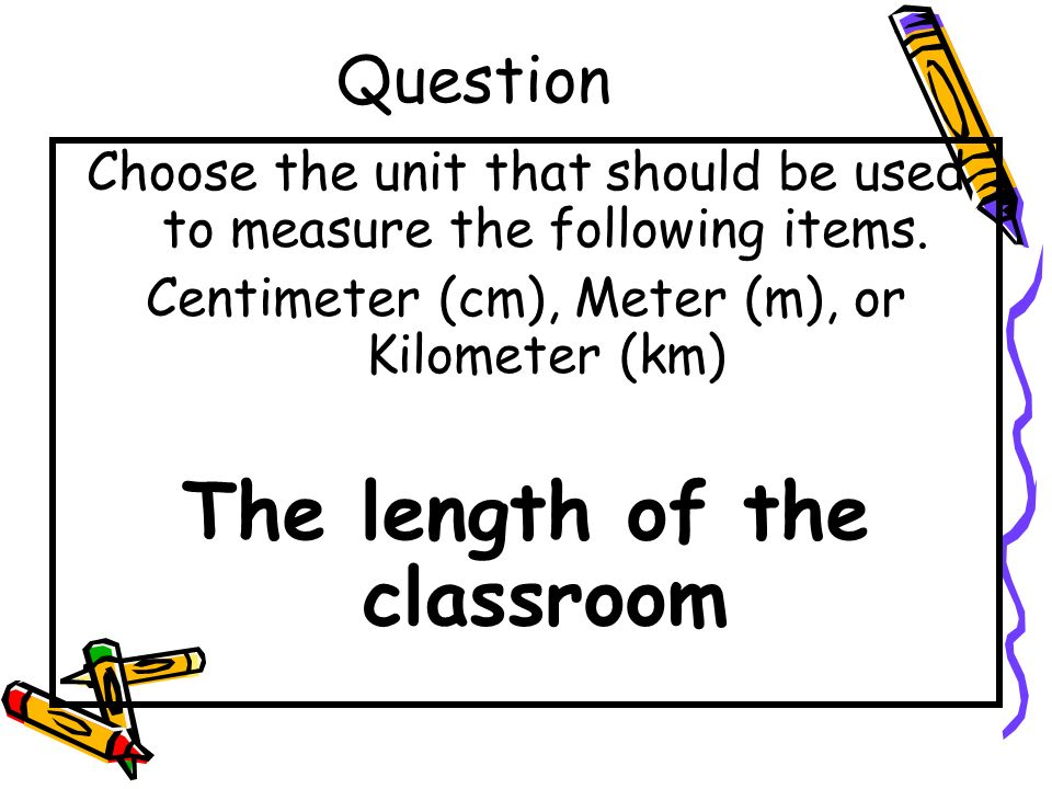 The length of the classroom