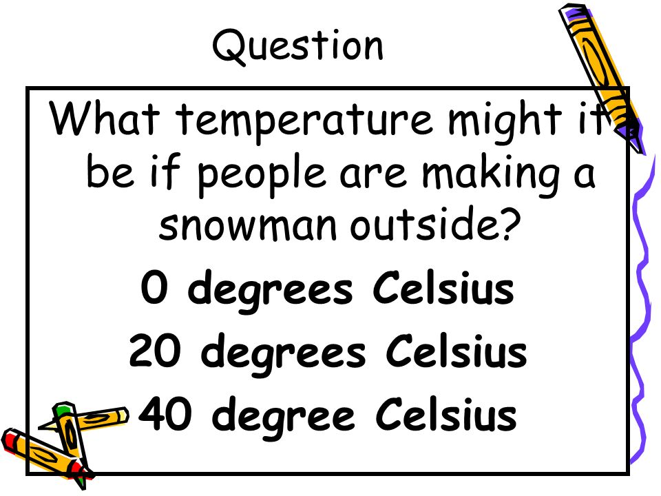 What temperature might it be if people are making a snowman outside