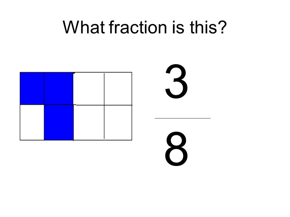 What fraction is this 3 8