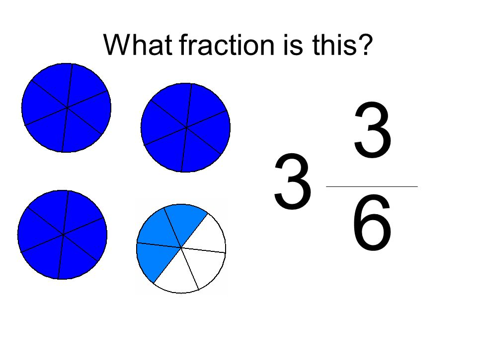 What fraction is this 3 6 3