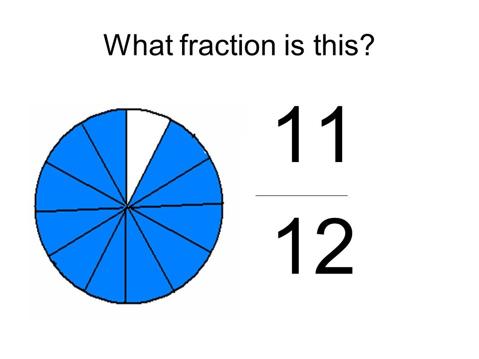 What fraction is this 11 12