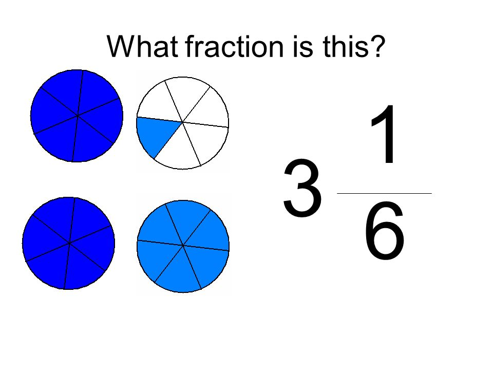 What fraction is this 1 6 3