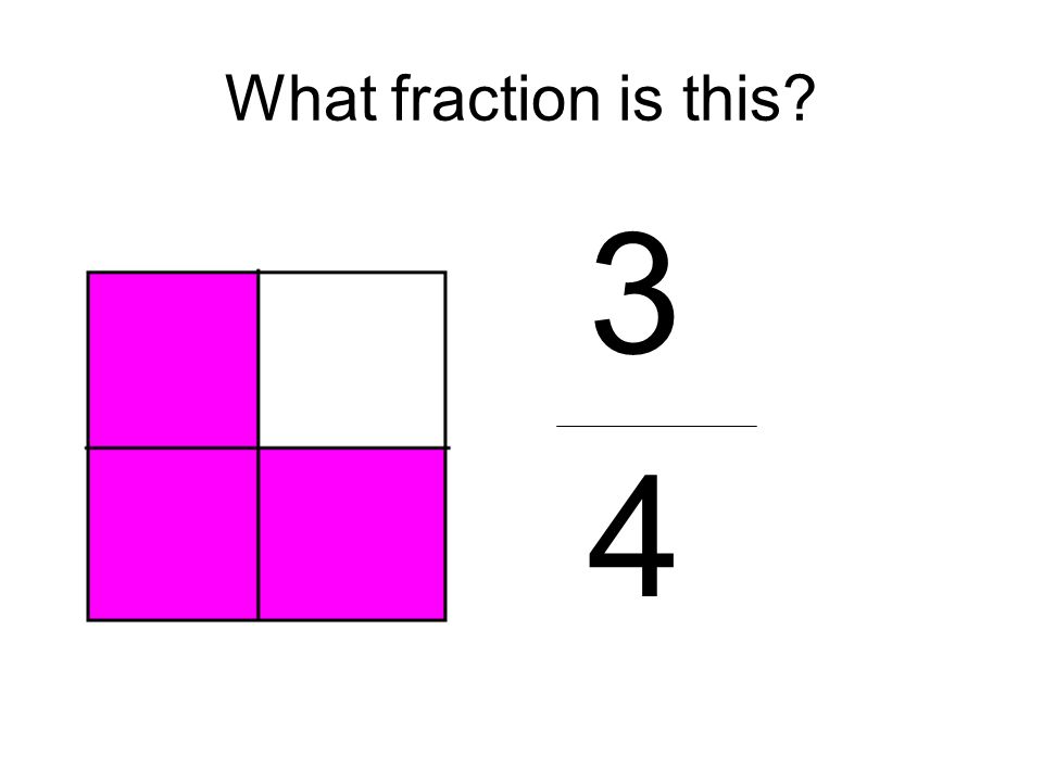 What fraction is this 3 4