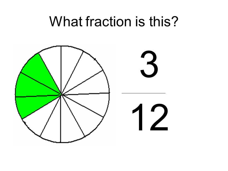 What fraction is this 3 12