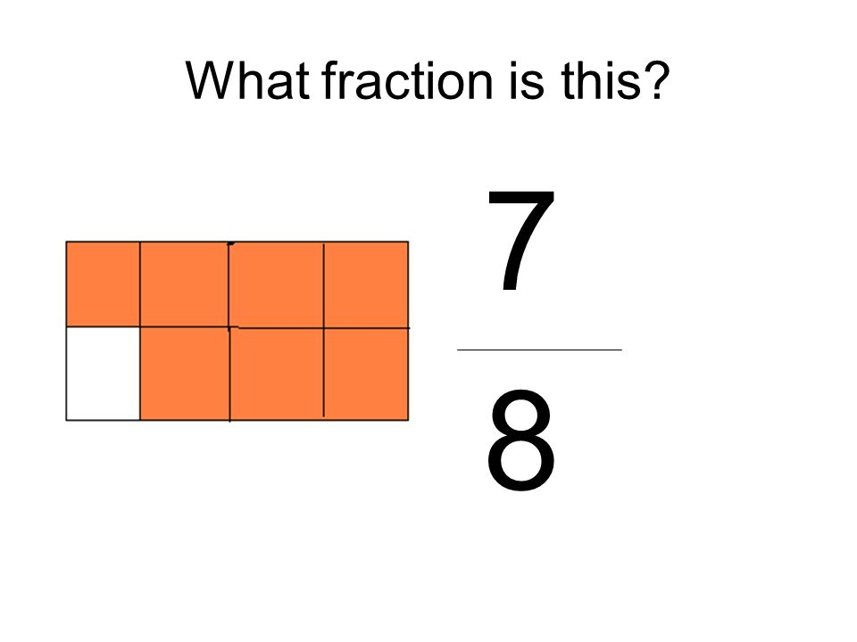 What fraction is this 7 8
