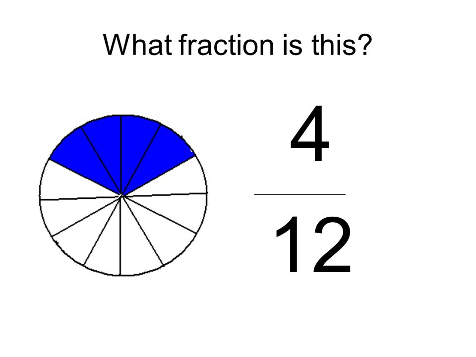 What fraction is this 4 12