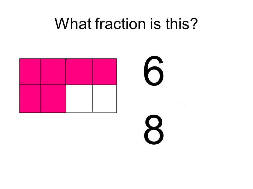 What fraction is this 6 8