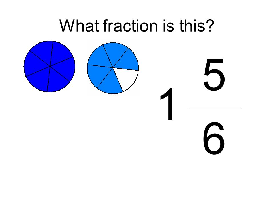 What fraction is this 5 6 1