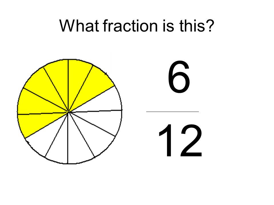What fraction is this 6 12