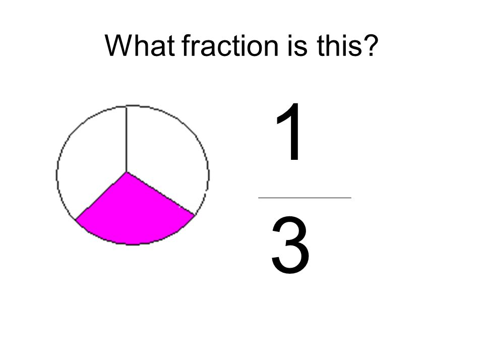 What fraction is this 1 3