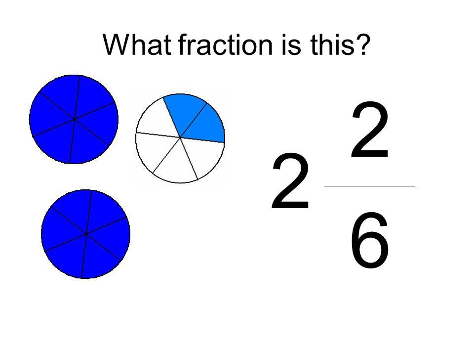 What fraction is this 2 6 2