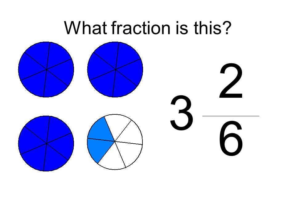 What fraction is this 2 6 3