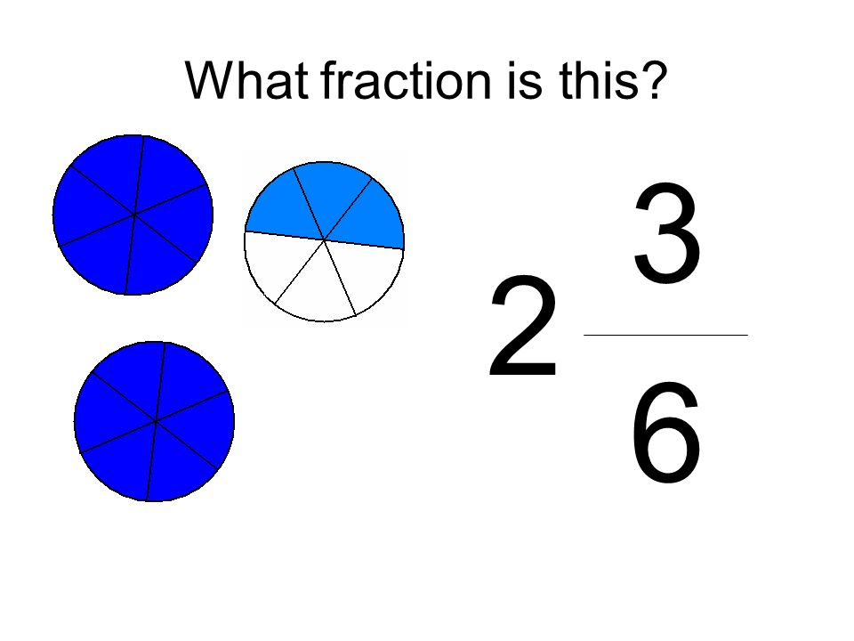 What fraction is this 3 6 2