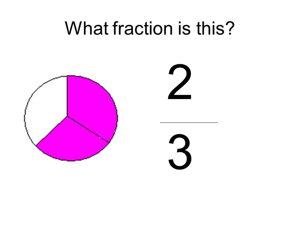 What fraction is this 2 3