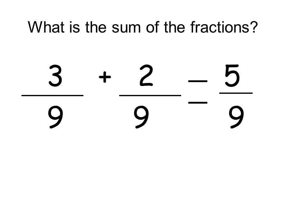 What is the sum of the fractions