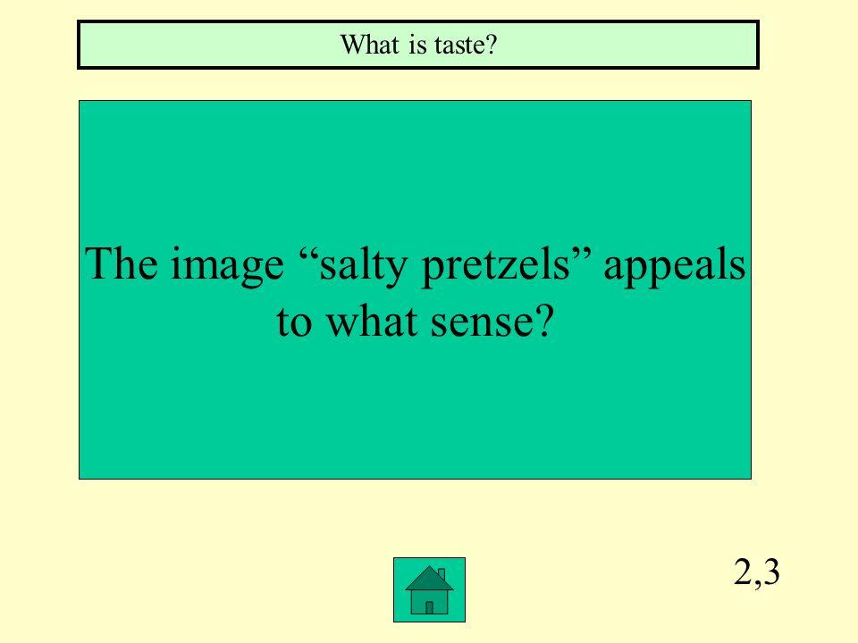The image salty pretzels appeals