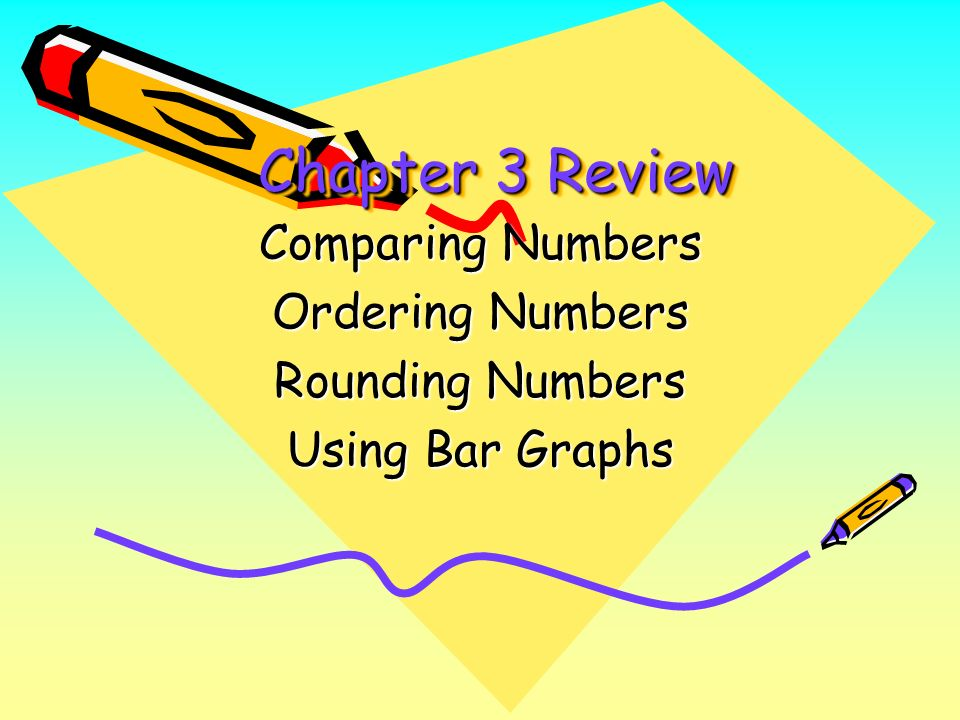 Comparing Numbers Ordering Numbers Rounding Numbers Using Bar Graphs