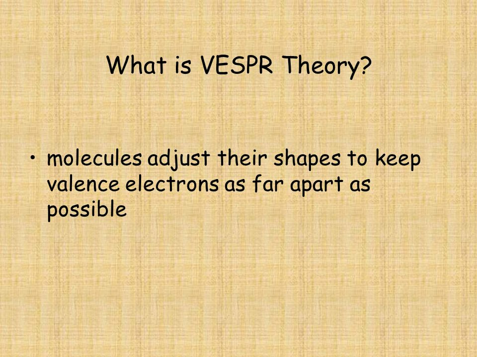 What is VESPR Theory.