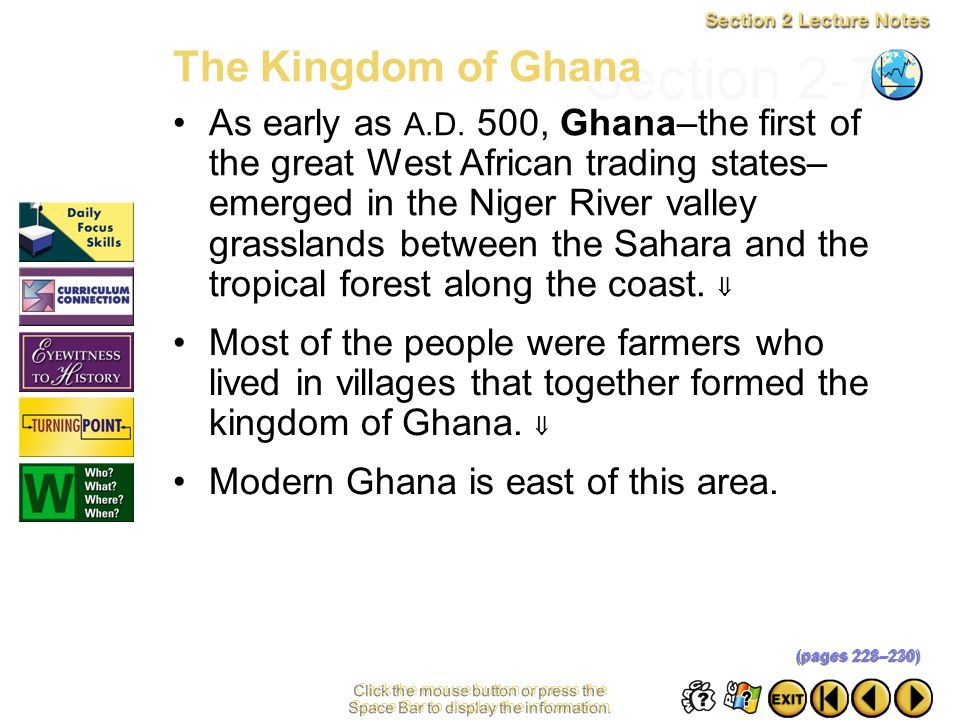 Section 2-7 The Kingdom of Ghana