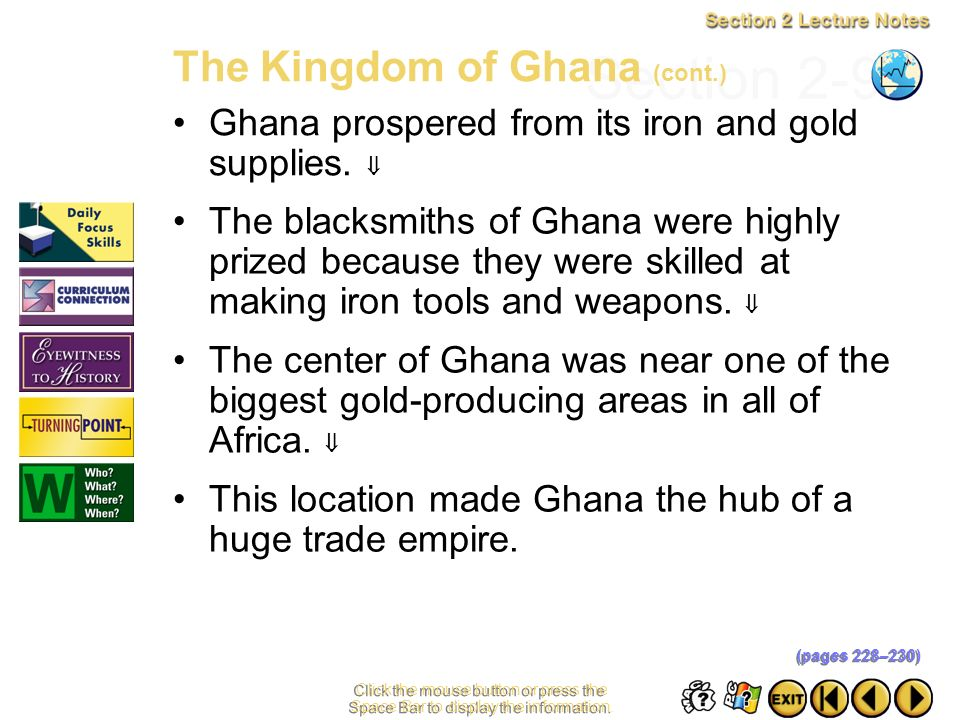Section 2-9 The Kingdom of Ghana (cont.)