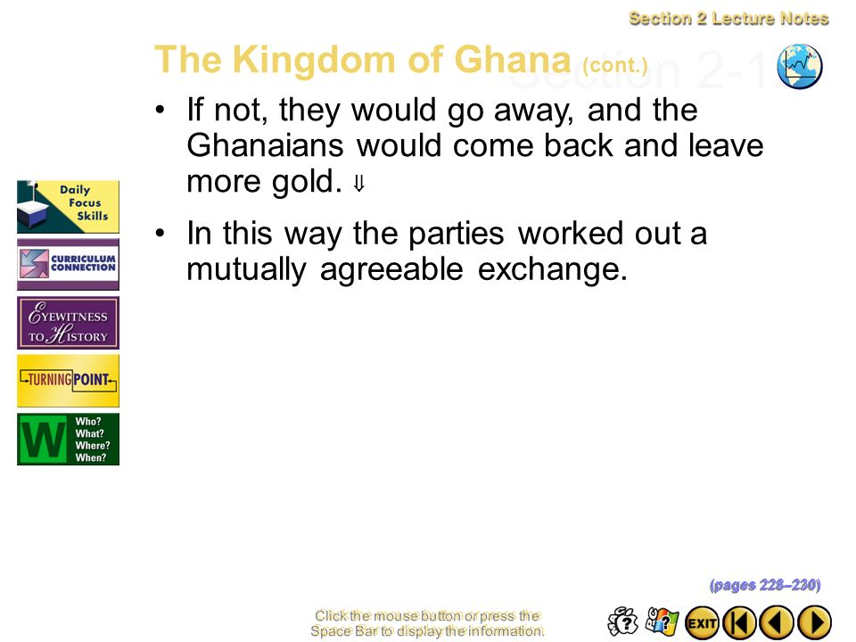 Section 2-12 The Kingdom of Ghana (cont.)