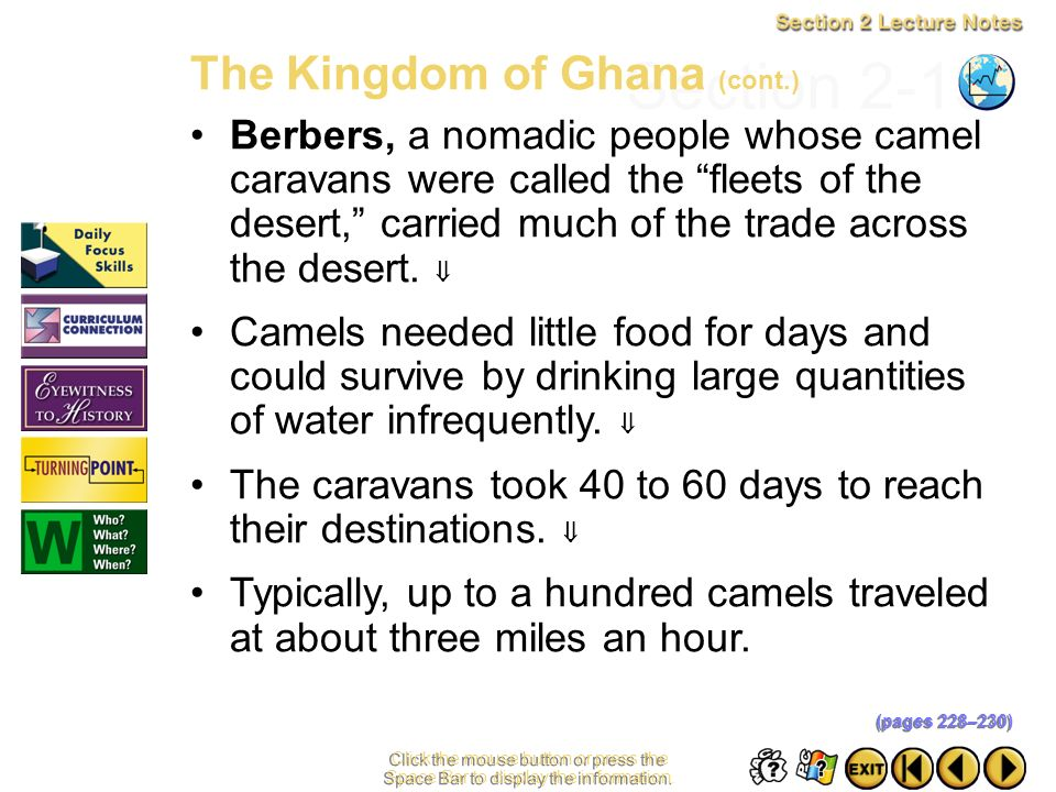 Section 2-13 The Kingdom of Ghana (cont.)
