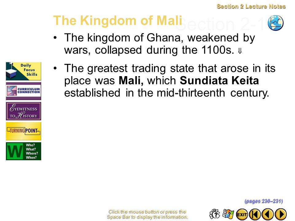 Section 2-16 The Kingdom of Mali