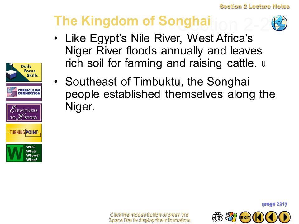 Section 2-23 The Kingdom of Songhai