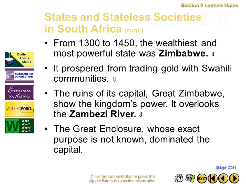 Section 2-37 States and Stateless Societies in South Africa (cont.)