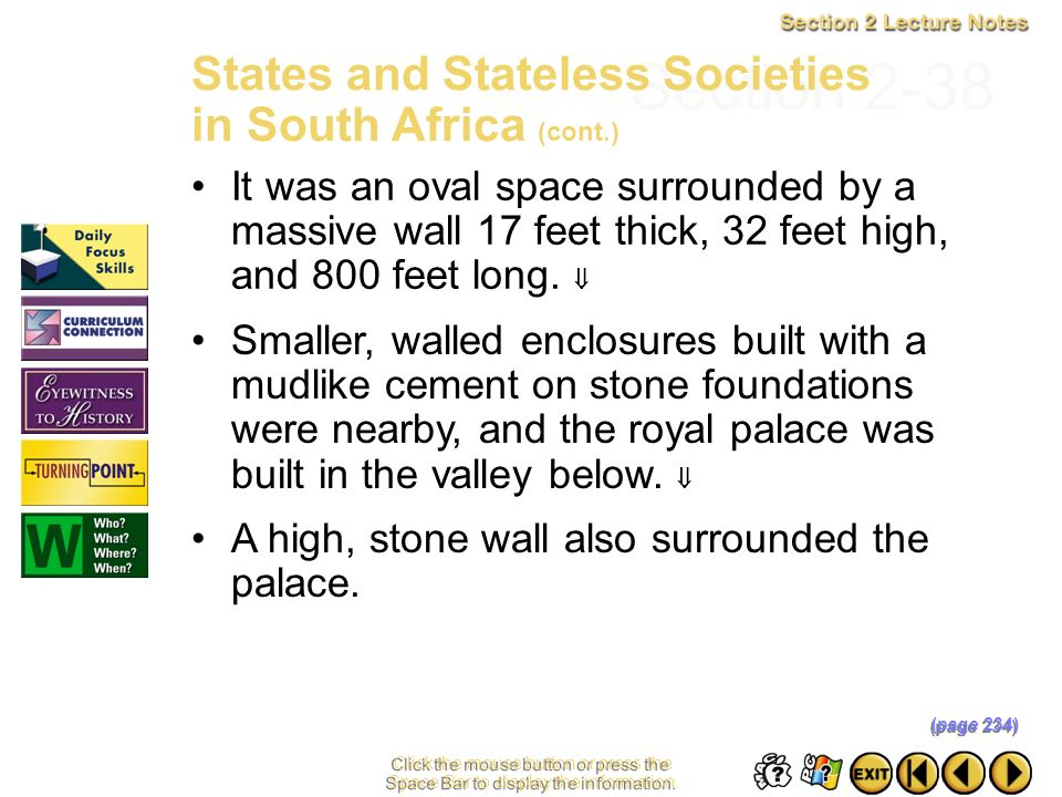 Section 2-38 States and Stateless Societies in South Africa (cont.)