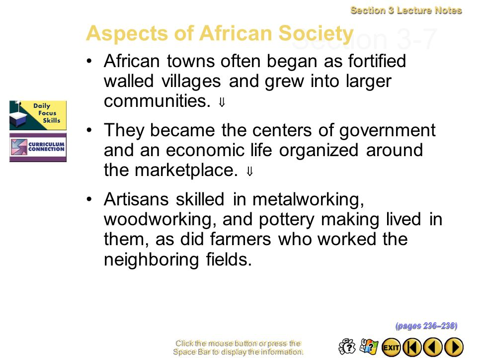 Section 3-7 Aspects of African Society