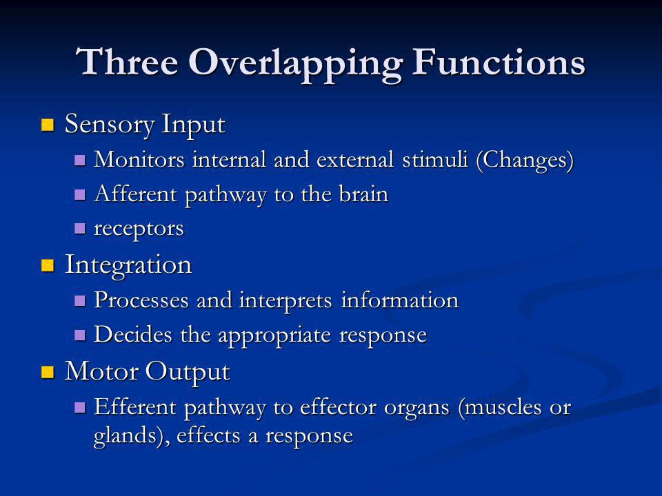 Three Overlapping Functions
