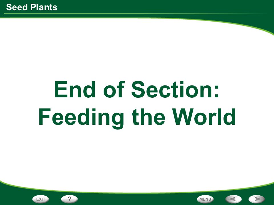 End of Section: Feeding the World