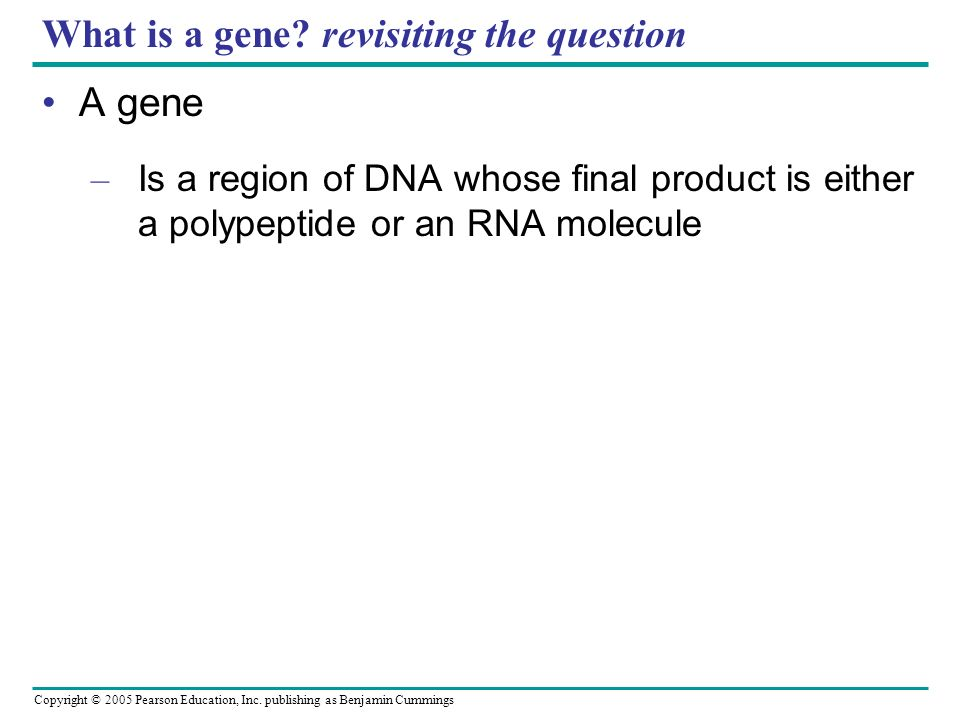 What is a gene revisiting the question
