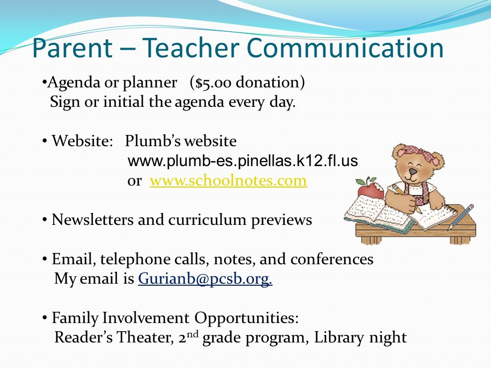 Parent – Teacher Communication