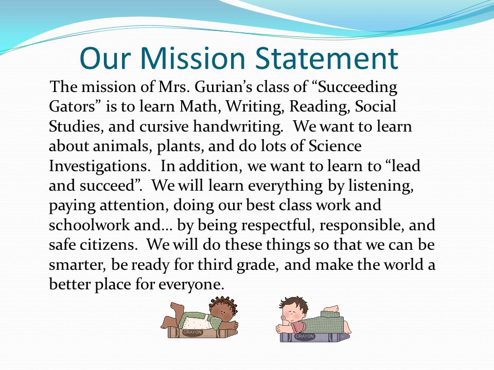 Our Mission Statement