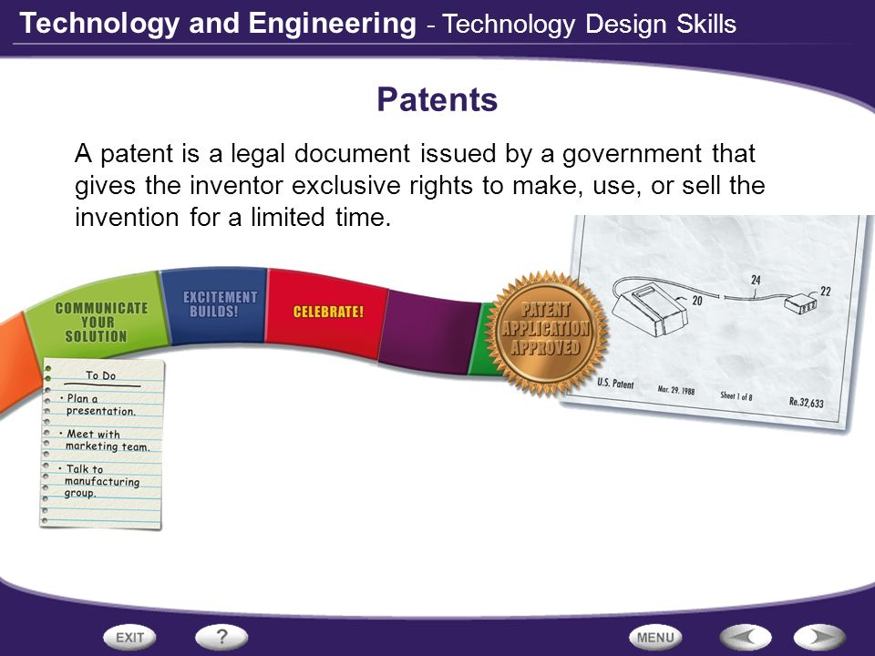 Patents - Technology Design Skills