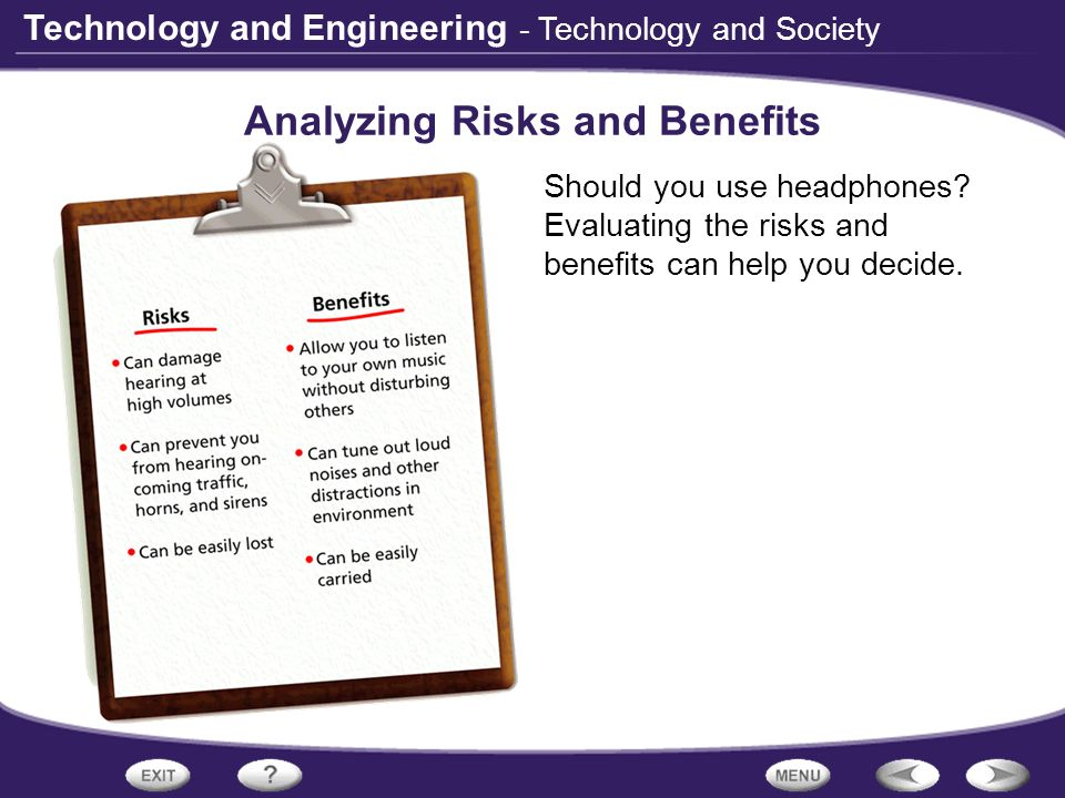 Analyzing Risks and Benefits