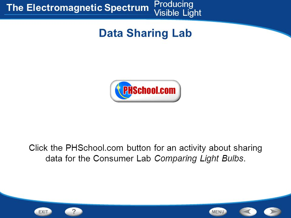 Data Sharing Lab Producing Visible Light