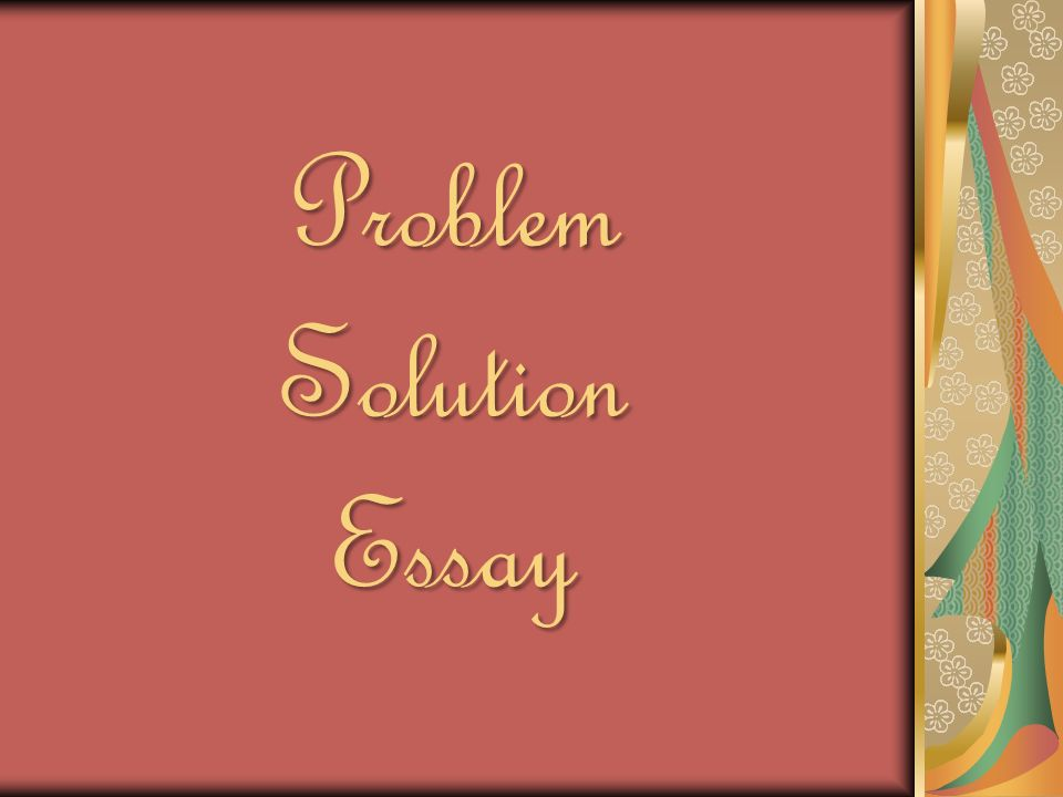 problem solution interclean essay A problem solution essay is a paper in which you describe a problem and some possible solutions to it it's often difficult to pick a decent topic when there are so many possibilities, so we've compiled this fantastic list of attention-grabbing problem solution essay topics for you to choose from.