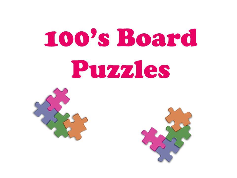 100's Board Puzzles