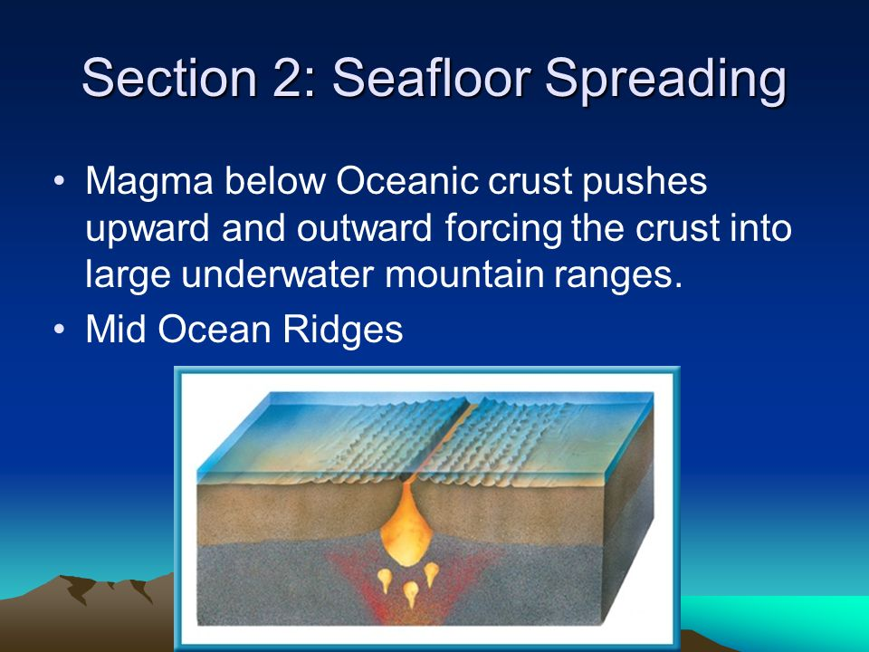Section 2: Seafloor Spreading