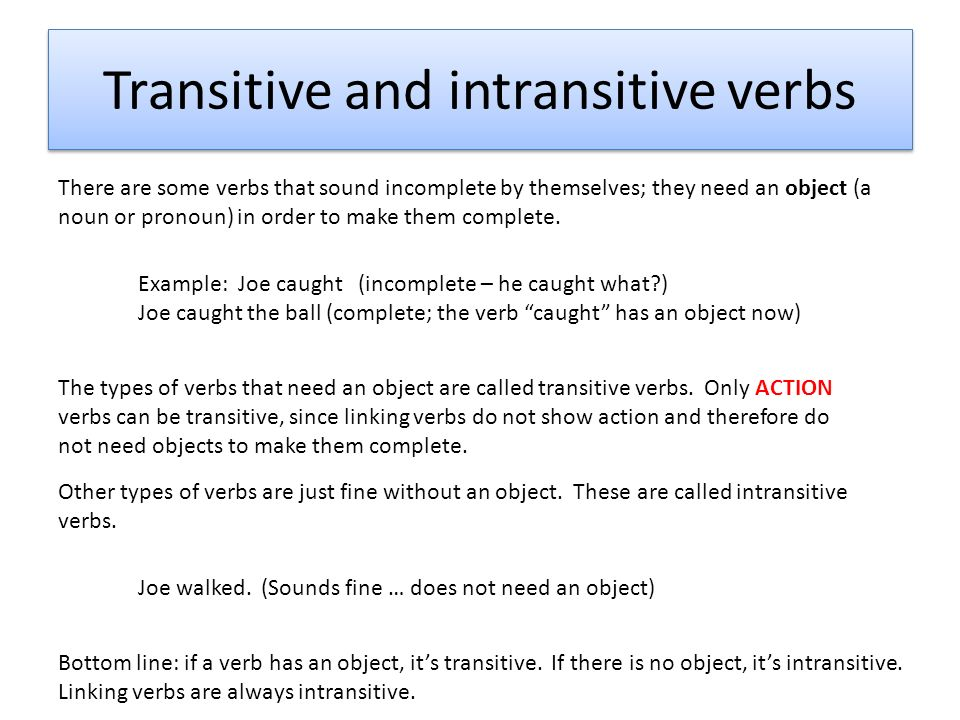 Complements direct objects indirect objects predicate nominative 2 transitive and intransitive verbs stopboris Choice Image