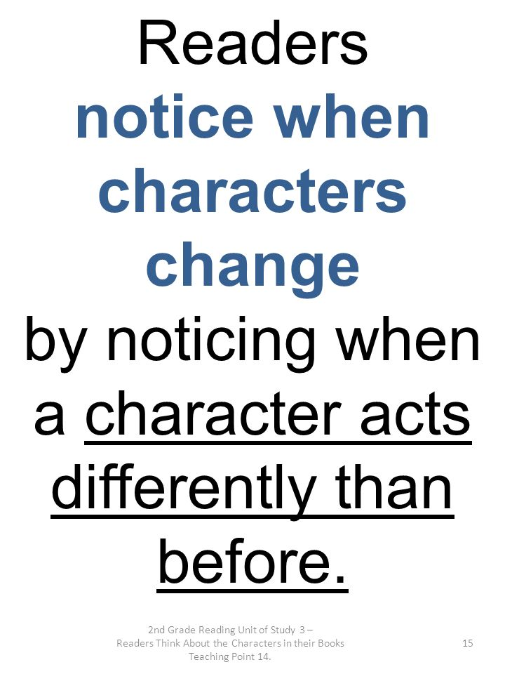notice when characters change