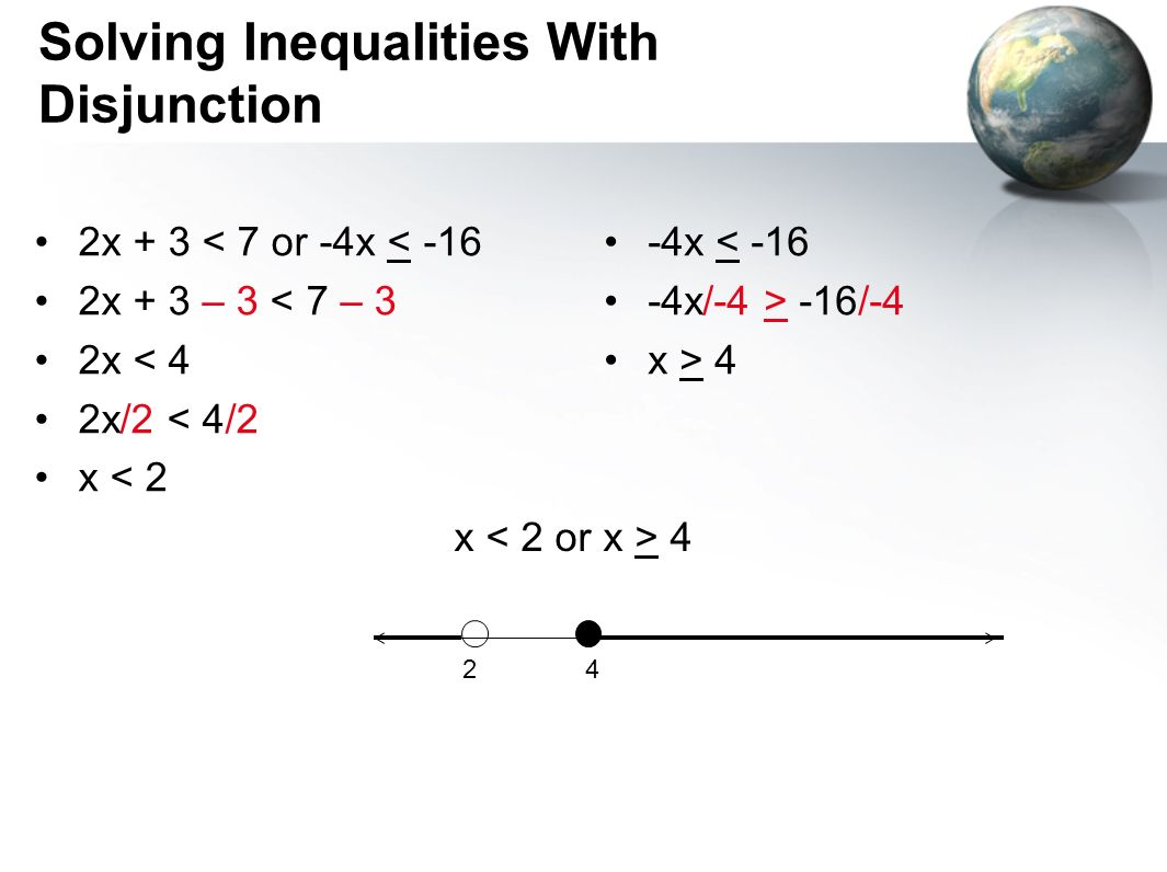 Solving Inequalities With Disjunction