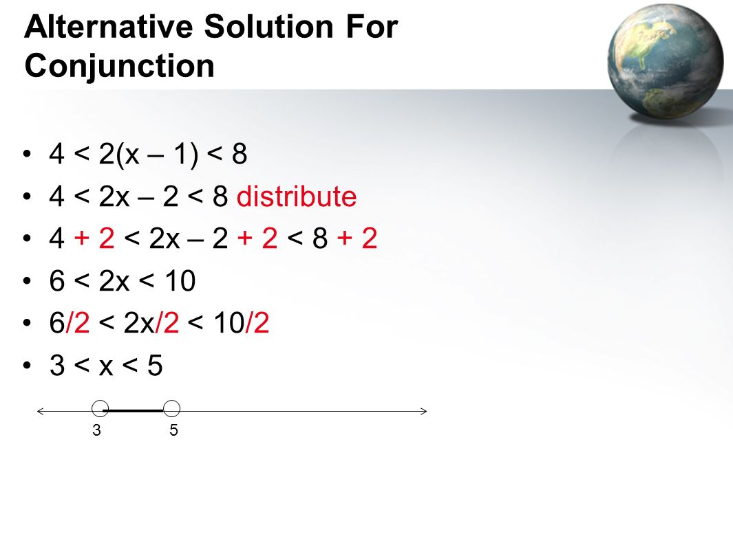 Alternative Solution For Conjunction