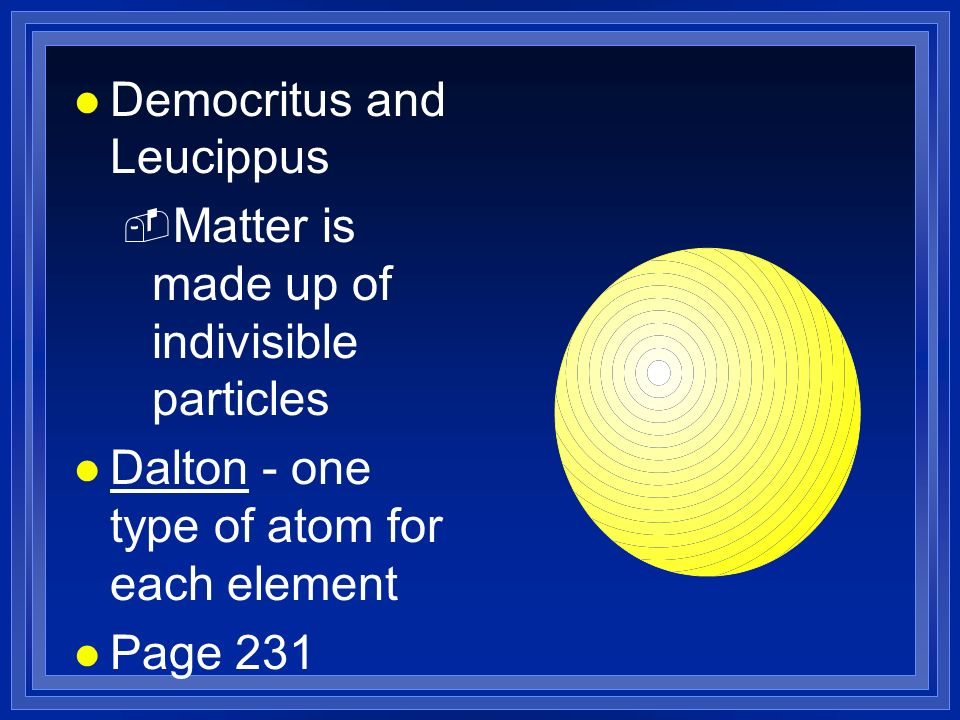 Democritus and Leucippus