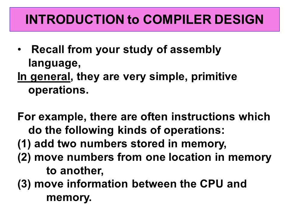 research paper compiler software Intel technology journal q4, 1999  in the first section of this paper, we present the high-level software architecture  ia-64 compiler the software architecture.