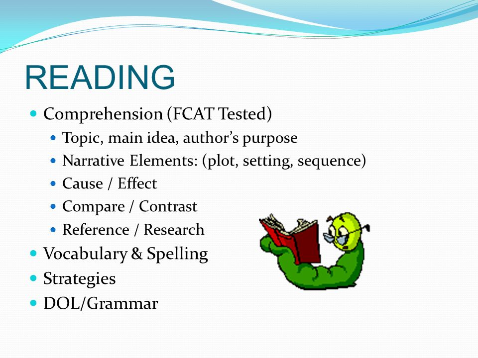READING Comprehension (FCAT Tested) Vocabulary & Spelling Strategies