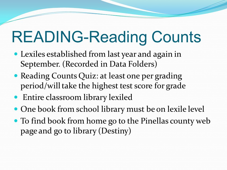 READING-Reading Counts